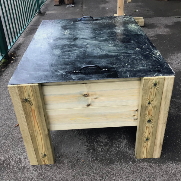 Sand Table with Chalkboard Lid